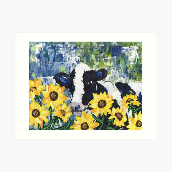 Cow in the Sun Art Print