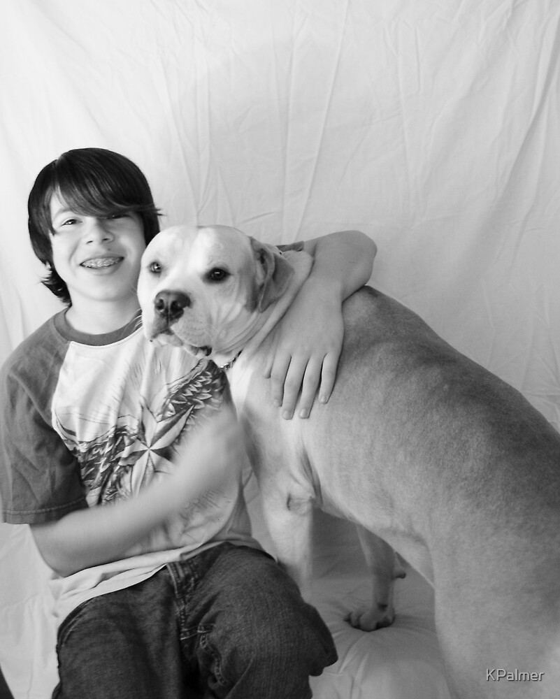 Boy and his dog by KPalmer