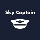 Sky Captain Airline Pilot Hat Dark Monotone by TinyStarAmerica