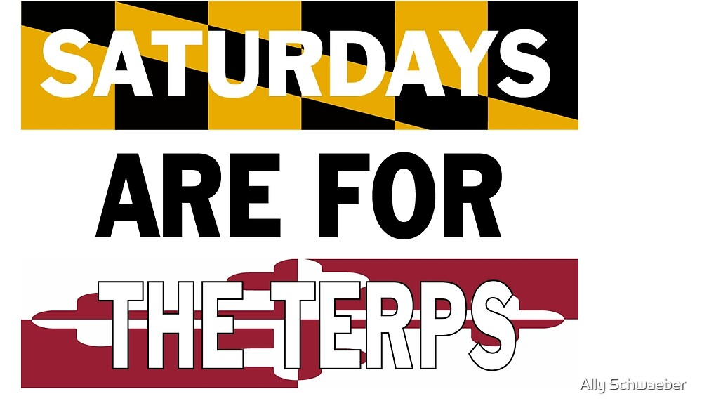 Saturdays are for the Terps by Ally Schwaeber