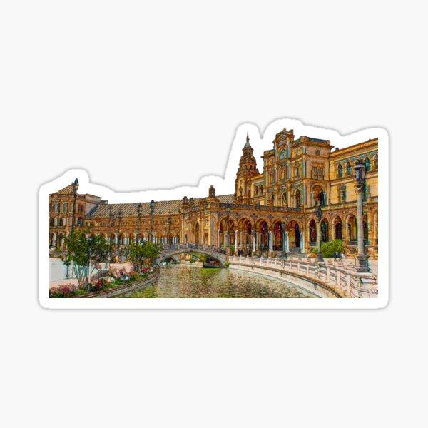 Spain Square Seville Sticker