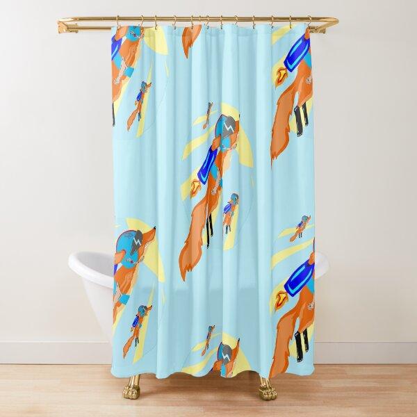 Rocket Fox Brigade Shower Curtain