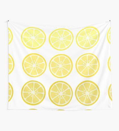 Gradient Lemons Wall Tapestry