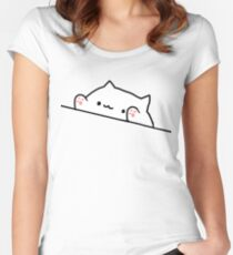 Bongo Cat Fitted Scoop T-Shirt