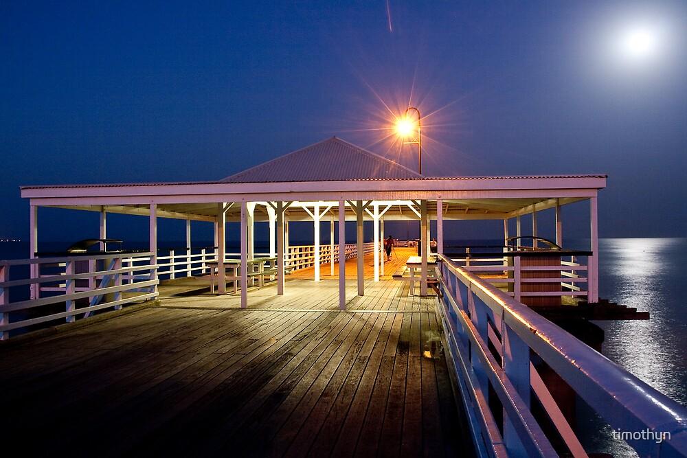 Night Sky on A Shaky Pier by timothyn