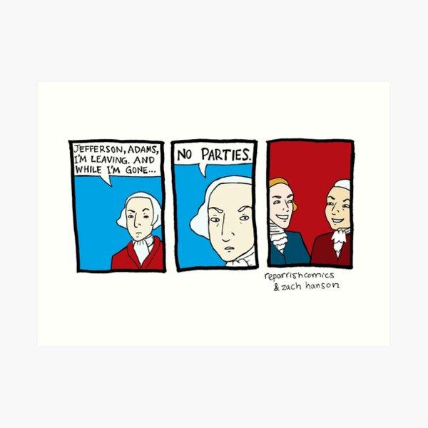 No Parties Art Print