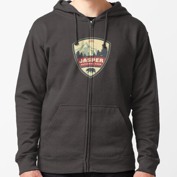 Canadian Rockies Jasper National Park Gifts and Souvenirs Zipped Hoodie