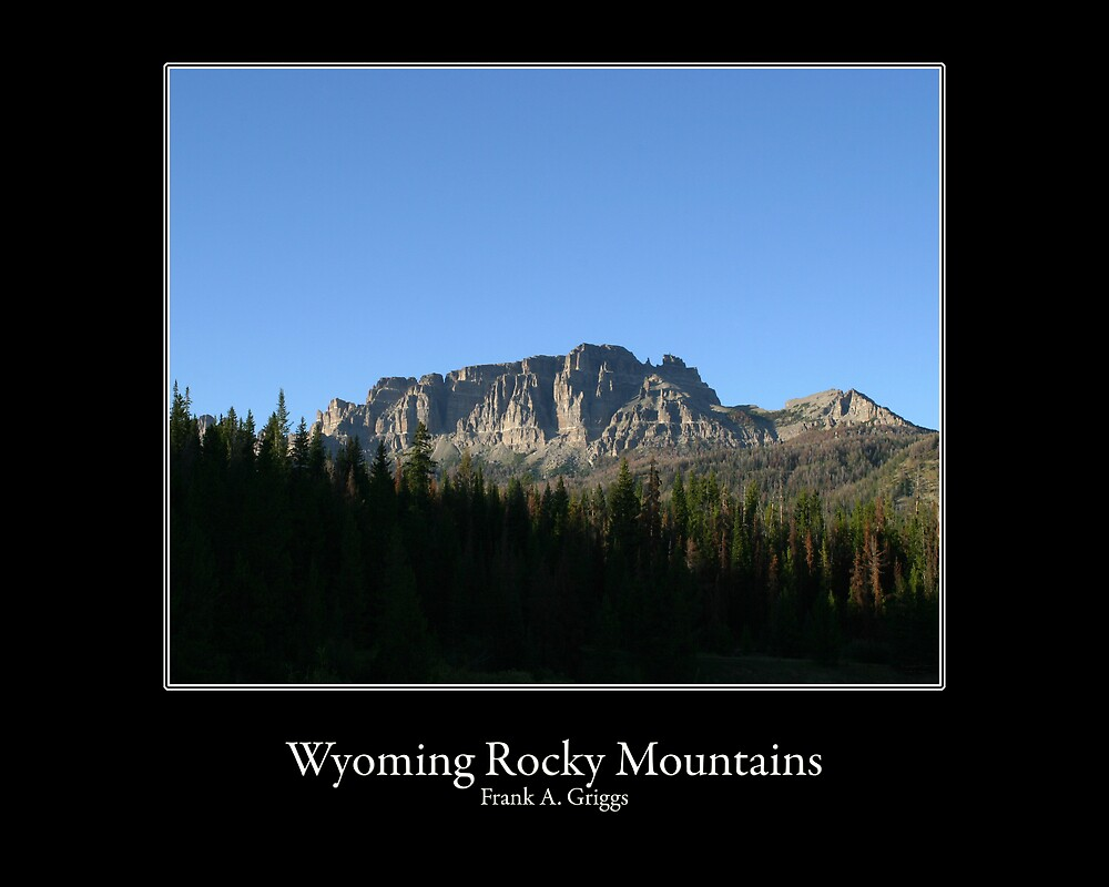 Wyoming Rocky Mountains Four by FrankGImages