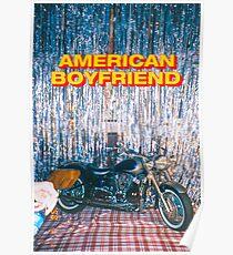 AMERIKANISCHER FREUND KEVIN ABSTRAKTER MOTORRAD: D Poster