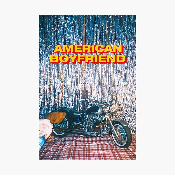 AMERICAN BOYFRIEND KEVIN ABSTRACT MOTORCYCLE :D Photographic Print