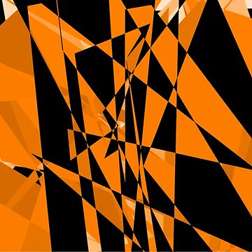 Orange and black abstract design by JohnyZero