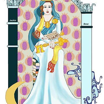 Tarot High Priestess von redqueenself