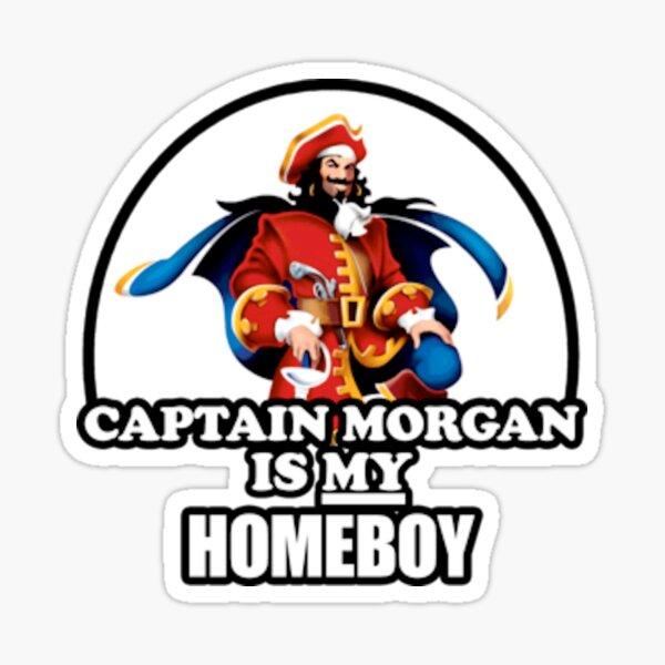 Le capitaine Morgan est mon homeboy Sticker