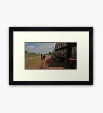 Road Train Framed Print