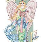 Temperance Tarot Card by redqueenself