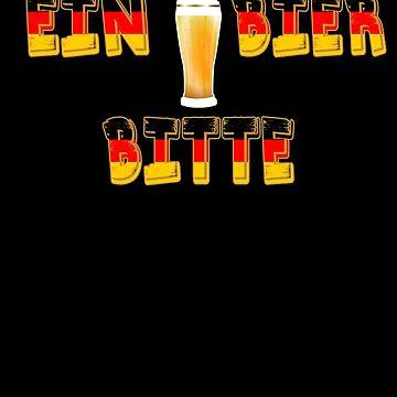 Ein Bier Bitte Cool German Oktoberfest Beer Festival Design For Beer Lovers And Beer Drinkers by galleryOne