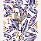 Glückliche Trägheit - tropische Indigo-Blätter von Cat Coquillette