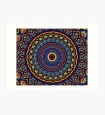 Kaleidoscope 4 abstract stained glass mandala pattern Art Print