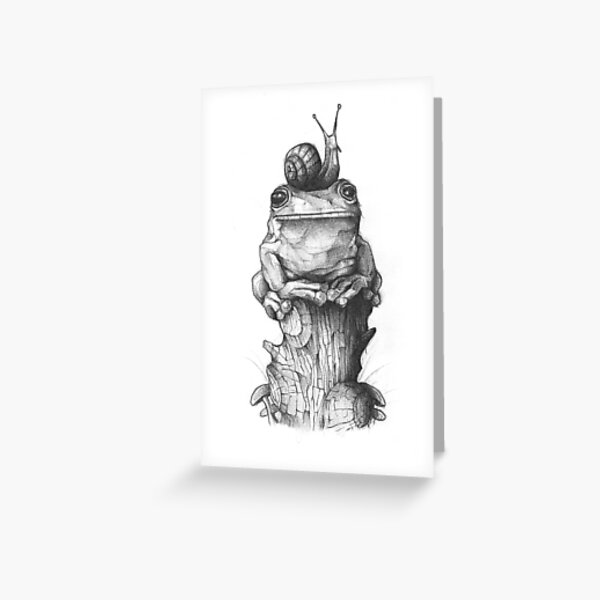 Frog and Snail Greeting Card