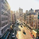 New York City Sunset over Chinatown by Vivienne Gucwa