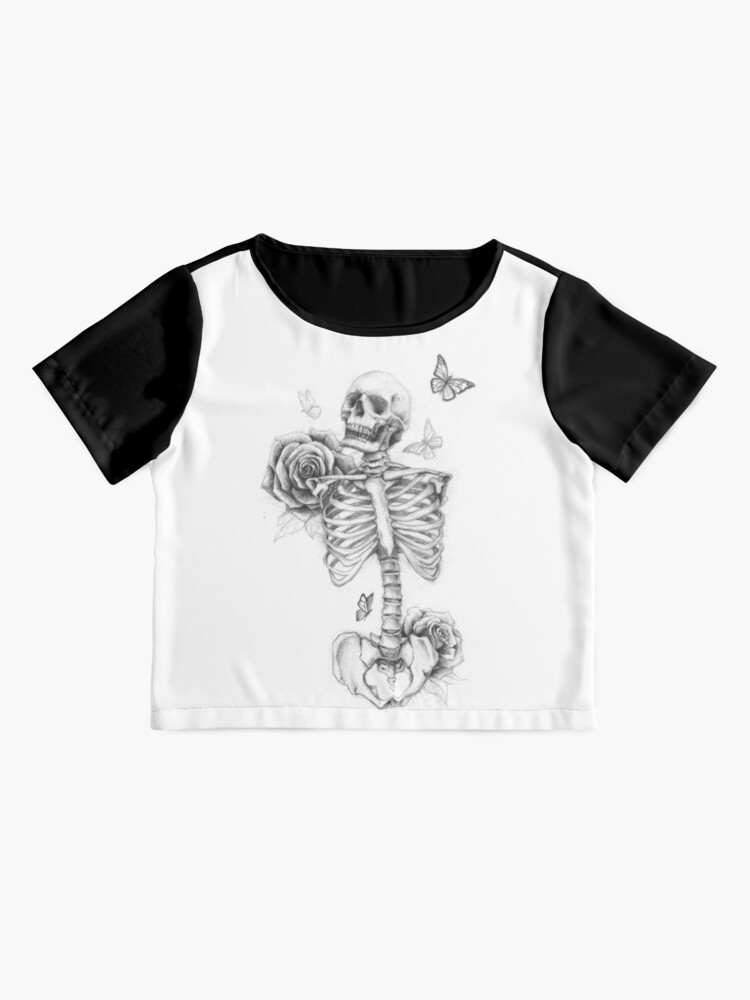 Alternate view of Skeleton and Roses Chiffon Top