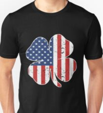 AMERICAN IRISH Grunt Style USA Men_s Patriotic St Patrick_s Day Clover patriotic Unisex T-Shirt