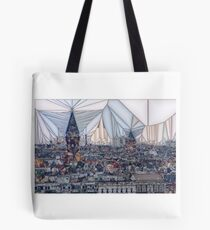 View of Kreuzberg - Abstract Tote Bag