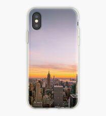Vinilo o funda para iPhone Skyline de la ciudad de Nueva York - rascacielos al atardecer