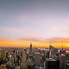 New York City Skyline - Skyscrapers at Sunset by Vivienne Gucwa