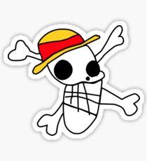 Ein Stück - Luffys schlecht gezeichnete Flagge Sticker