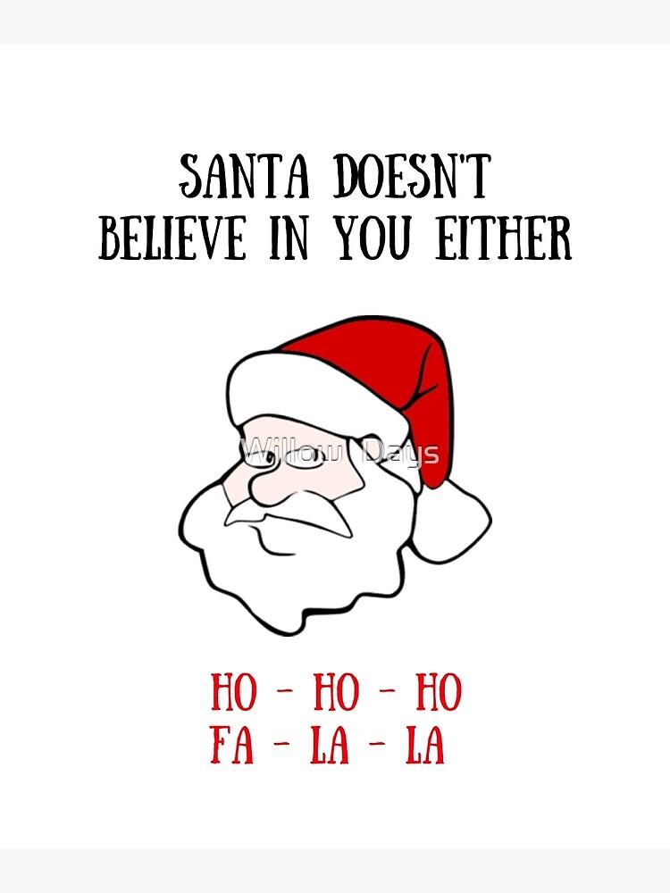 Christmas Cards To Print.Bad Santa Christmas Card Meme Greeting Cards Metal Print