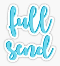 Full Send - Blue Sticker