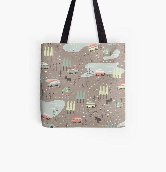 Long and Winding Road All Over Print Tote Bag