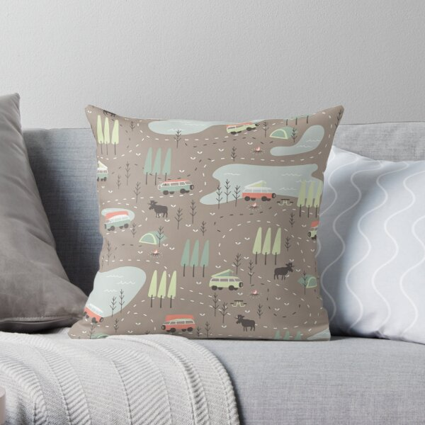 Long and Winding Road Throw Pillow