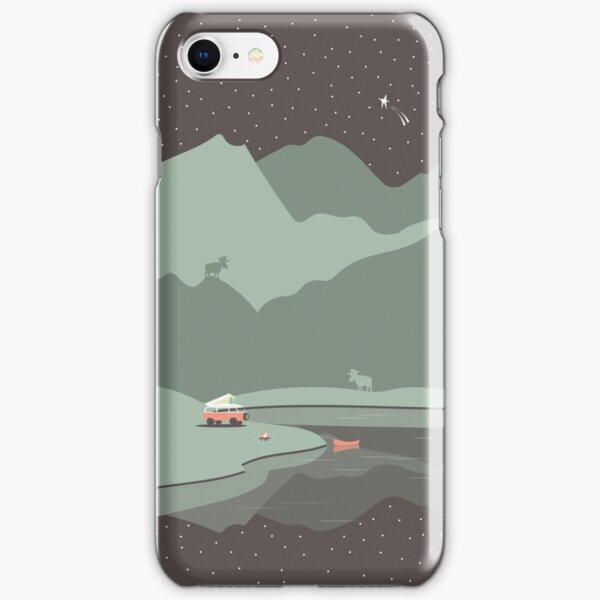 Into the Wild - Camping Scene iPhone Snap Case