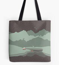 Into the Wild - Camping Scene Tote Bag