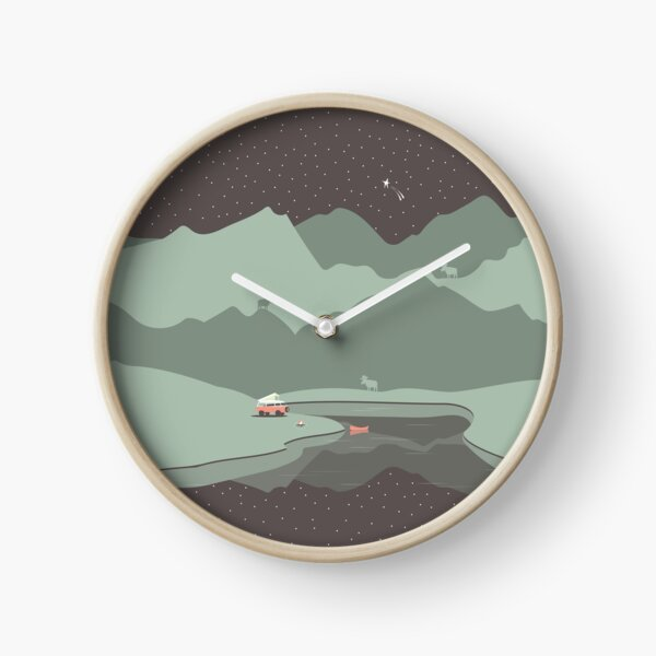 Into the Wild - Camping Scene Clock