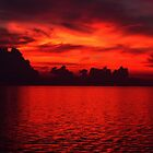 Reflected Red Sunset by GedTKirk
