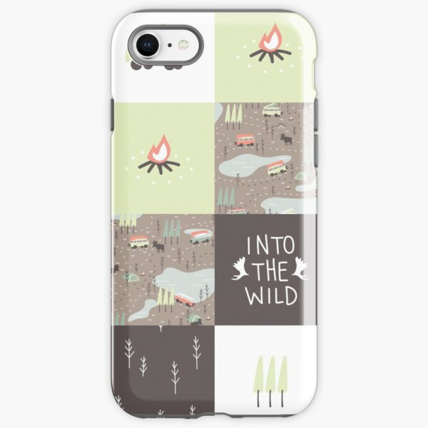Into the Wild - Faux Quilt Pattern iPhone Tough Case