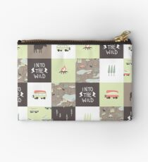 Into the Wild - Faux Quilt Pattern Studio Pouch