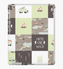 Into the Wild - Faux Quilt Pattern iPad Case/Skin