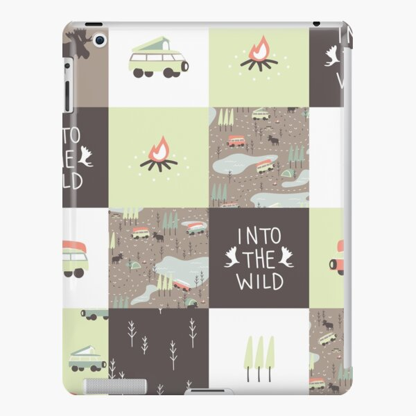 Into the Wild - Faux Quilt Pattern iPad Snap Case