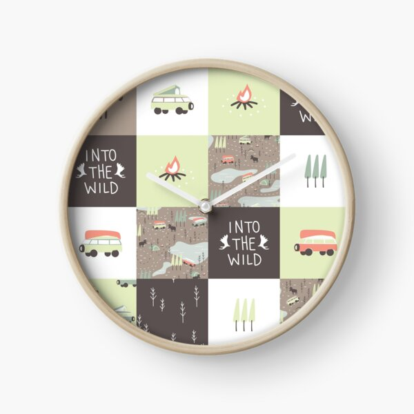 Into the Wild - Faux Quilt Pattern Clock