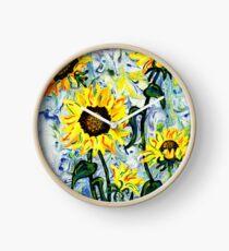 Wilde Sonnenblume Uhr
