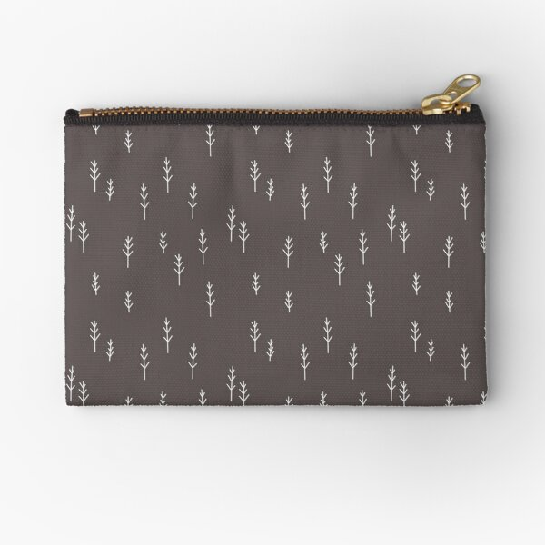 Into the Wild - Forest, Black Background Zipper Pouch
