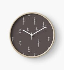 Into the Wild - Forest, Black Background Clock