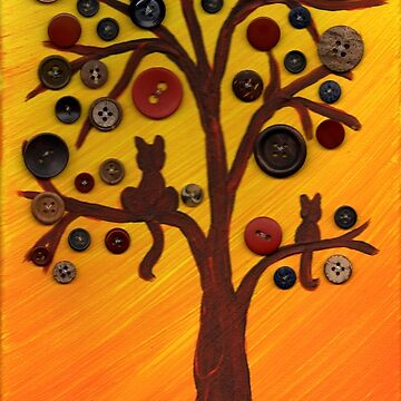 Fall Button Tree by missmann