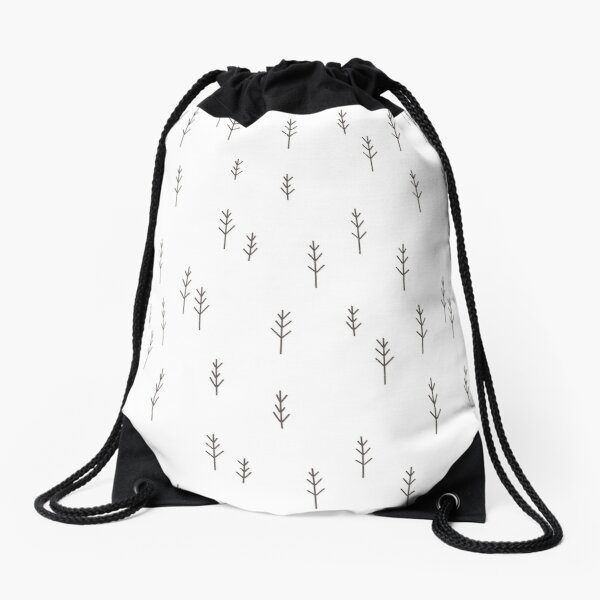 Into the Wild - Forest, White Background Drawstring Bag