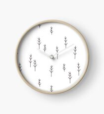 Into the Wild - Forest, White Background Clock