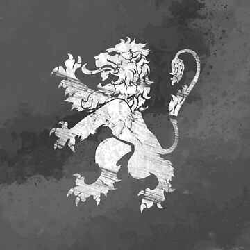 Lion Rampant - Charcoal Grunge by GrizzlyGaz